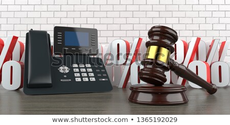 Phone Auction Gavel Percents Stock photo © limbi007