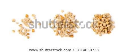 Alimentos fondo blanco dieta marrón Foto stock © FOKA