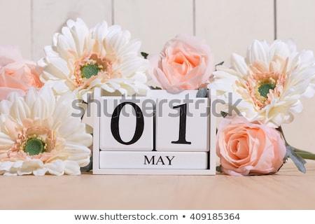 Cubes calendar 1st May Stock photo © Oakozhan
