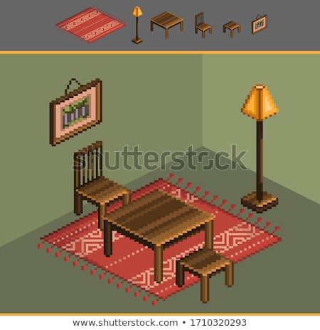 Bed Pixel 8 Bit Video Game Art Icon Stock photo © Krisdog