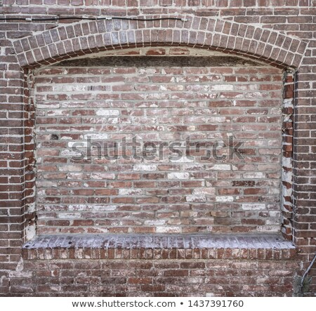 Grungy Blank Brick Wall with Inset Background Stock photo © feverpitch