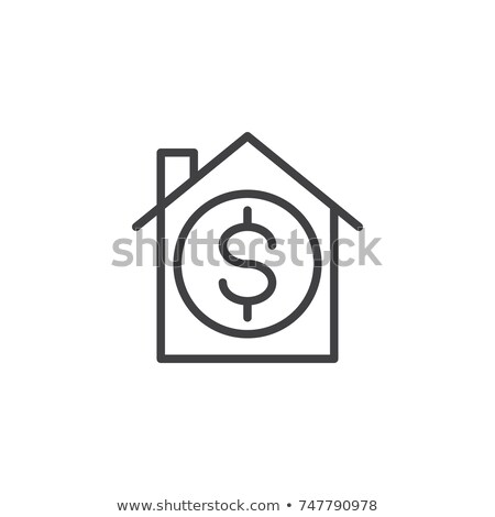 House with dollar sign icon. Real estate, property sell symbol, logo illustration. Stock photo © kyryloff