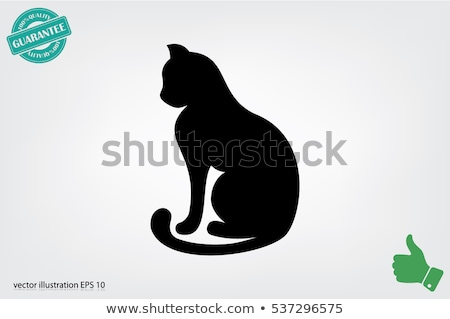 cat silhouette concept design of home animals stock photo © foxysgraphic