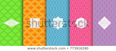 Iszlám stílus vonalak minta bannerek szett Stock fotó © SArts