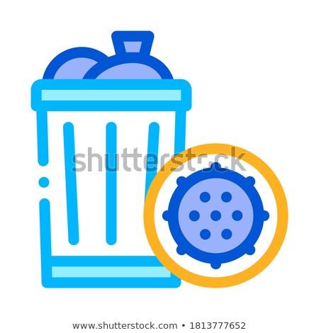 bactéries · toilettes · bol · vecteur · signe - photo stock © pikepicture