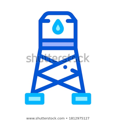 Water Cistern Tower Vector Sign Thin Line Icon Stock photo © pikepicture