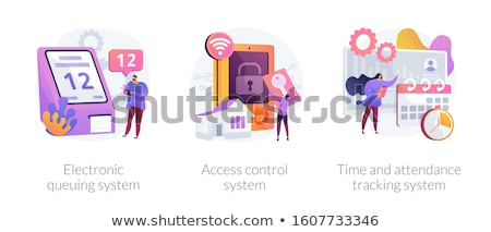 Time and attendance tracking system concept vector illustration Stock photo © RAStudio
