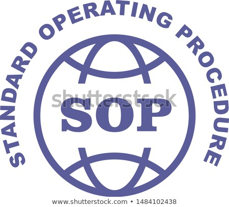 SOP stamp - Standard operating procedure emblem Stock photo © Winner