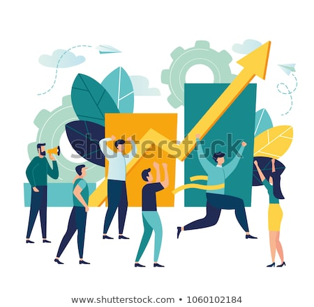 Overcoming Obstacles, Businessman with Charts Stock photo © robuart