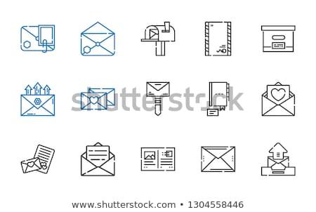Open mailbox vector geïsoleerd icon brievenbus Stockfoto © robuart