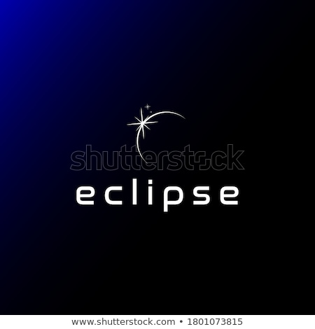 Lunar Eclipse Sun Moon Earth Elements Illustration Stock photo © lenm