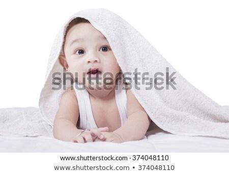 Tatlı Hint bebek battaniye zemin kapalı Stok fotoğraf © lichtmeister