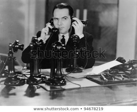 Confused phone operator. Stock photo © lichtmeister