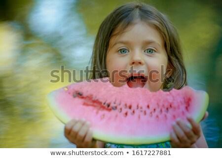 Meisje leeftijd rivier wazig Stockfoto © ElenaBatkova