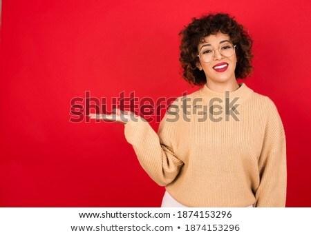 Glimlachend Rood europese vrouw blij fiets Stockfoto © vkstudio
