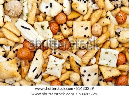 Orientalisch Mischung Snack schwarz weiß Stock foto © nito