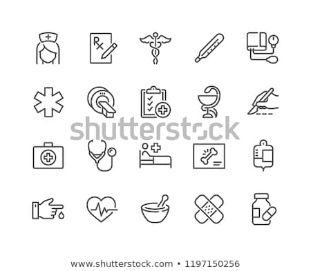 Doctor related vector thin line icon. Stock photo © smoki