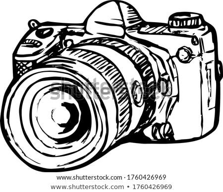 Dslr digitális kép kamera zoom rajz Stock fotó © patrimonio