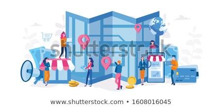 интернет-магазин вектора метафора службе онлайн Сток-фото © RAStudio