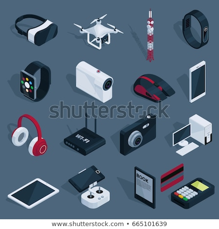 Drone Quadcopter Equipment isometric icon vector illustration Stock photo © pikepicture