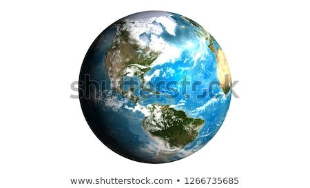 3d earth isolated on black background Stock photo © chrisroll