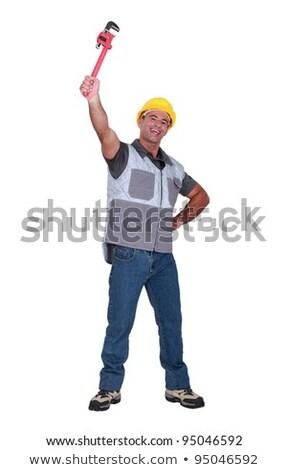 Stok fotoğraf: Adam · İngiliz · anahtarı · hava · çalışmak · işçi · endüstriyel