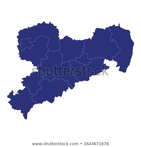 Map of Saxony Stock photo © rbiedermann