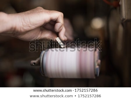 Yourselfer holding a sander Stock photo © photography33