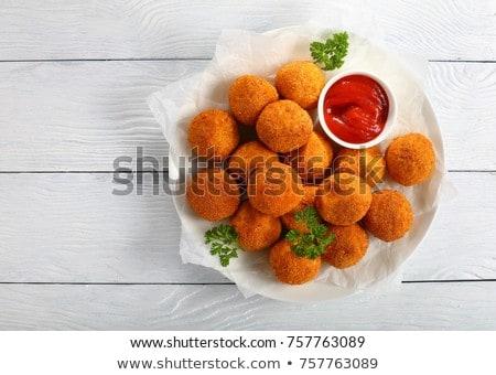 Patate palla ketchup alimentare pollo formaggio Foto d'archivio © M-studio