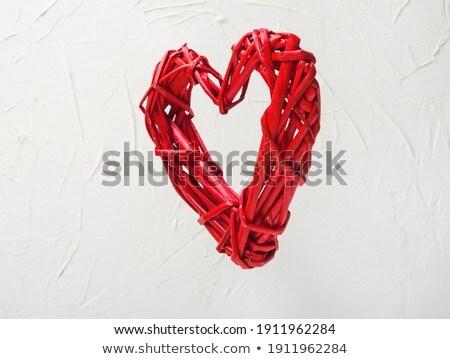 Stok fotoğraf: Rustik · ahşap · kalp · sevmek · doğa · kırmızı