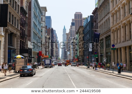 Bina Manhattan New York binalar doku iş Stok fotoğraf © lunamarina