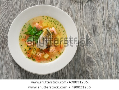 fish soup with seafood Stock photo © phbcz