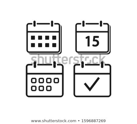 Día calendario icono ilustración signo diseno Foto stock © kiddaikiddee