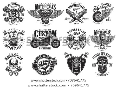 motorcycle illustration Stock photo © adrenalina