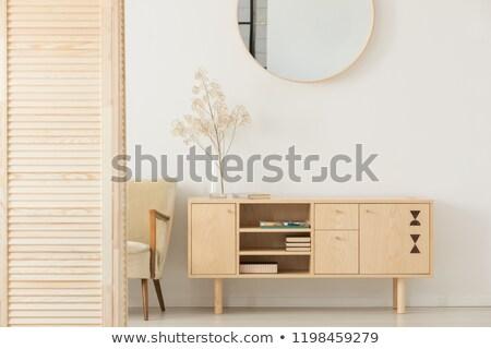 igazi · fotó · klasszikus · fotel · fal · otthon - stock fotó © rufous