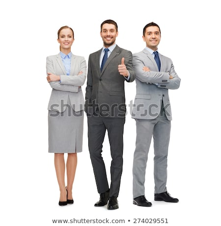 Gray Suit Businessman_beauty stock photo © toyotoyo