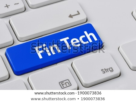 vinger · Blauw · toetsenbord · knop · technische · ondersteuning · zwarte - stockfoto © zerbor
