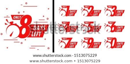 number of days left badge or sticker design Stock photo © SArts
