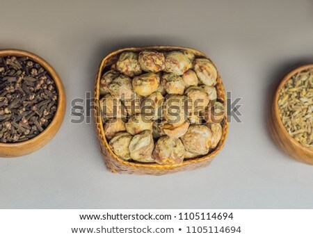 Different kinds of spices of Malay Asian cuisine in bags Stok fotoğraf © galitskaya