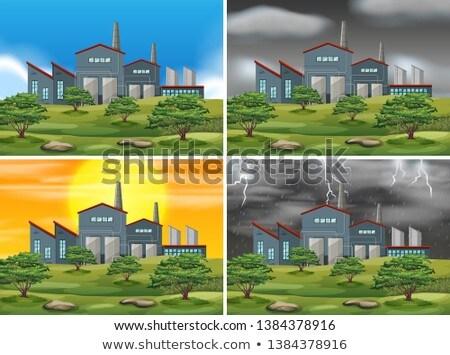 Ingesteld fabriek verschillend weer illustratie boom Stockfoto © bluering