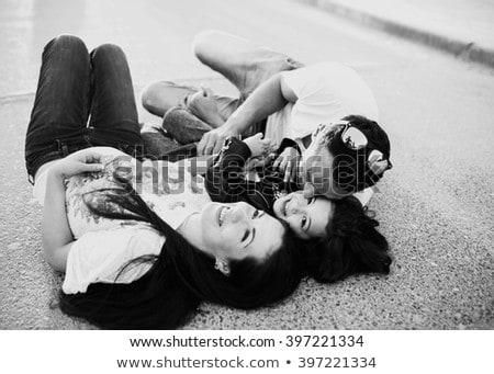 güzellik · portre · güzel · bir · kadın · dokunmak · yüz · mükemmel - stok fotoğraf © dashapetrenko