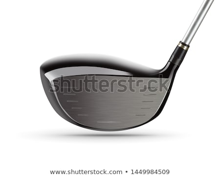 Face of Large Driver Golf Club on White Background Stock photo © feverpitch