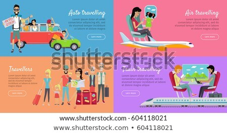 Auto, Air, Train Travelling and Travellers Banner. Stock photo © robuart