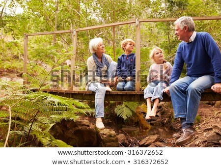 Front view of active senior Caucasian men talking with each other in the park Stock photo © wavebreak_media