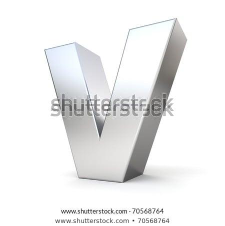Fém betűtípus levél 3D 3d render illusztráció Stock fotó © djmilic