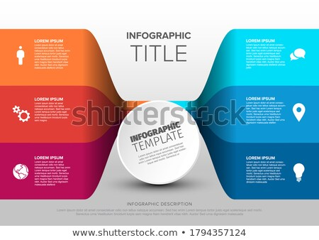 Multipurpose infographic made from blue content circles Stock photo © orson