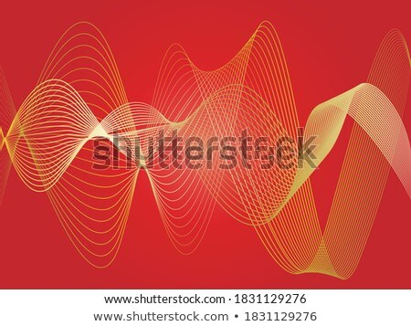 Light duct of golden curved lines. Abstract background  Stock photo © cienpies