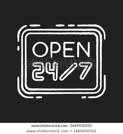 everyday 24 hours and 7 days open background design Stock photo © SArts