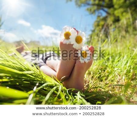 ног · полотенце · мальчика · студию · Cute - Сток-фото © carlodapino