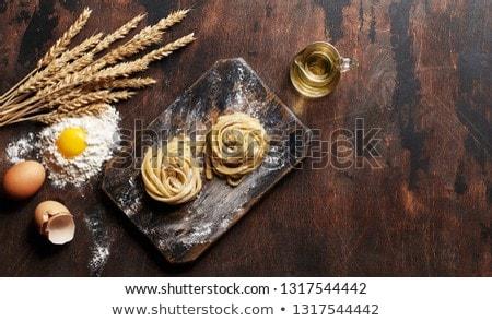 мучной яйца пасты Сырая пища Ингредиенты Сток-фото © stevanovicigor